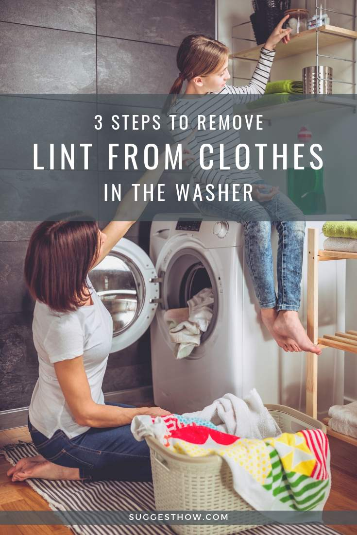 3 Steps to Remove Lint from Clothes in the Washer