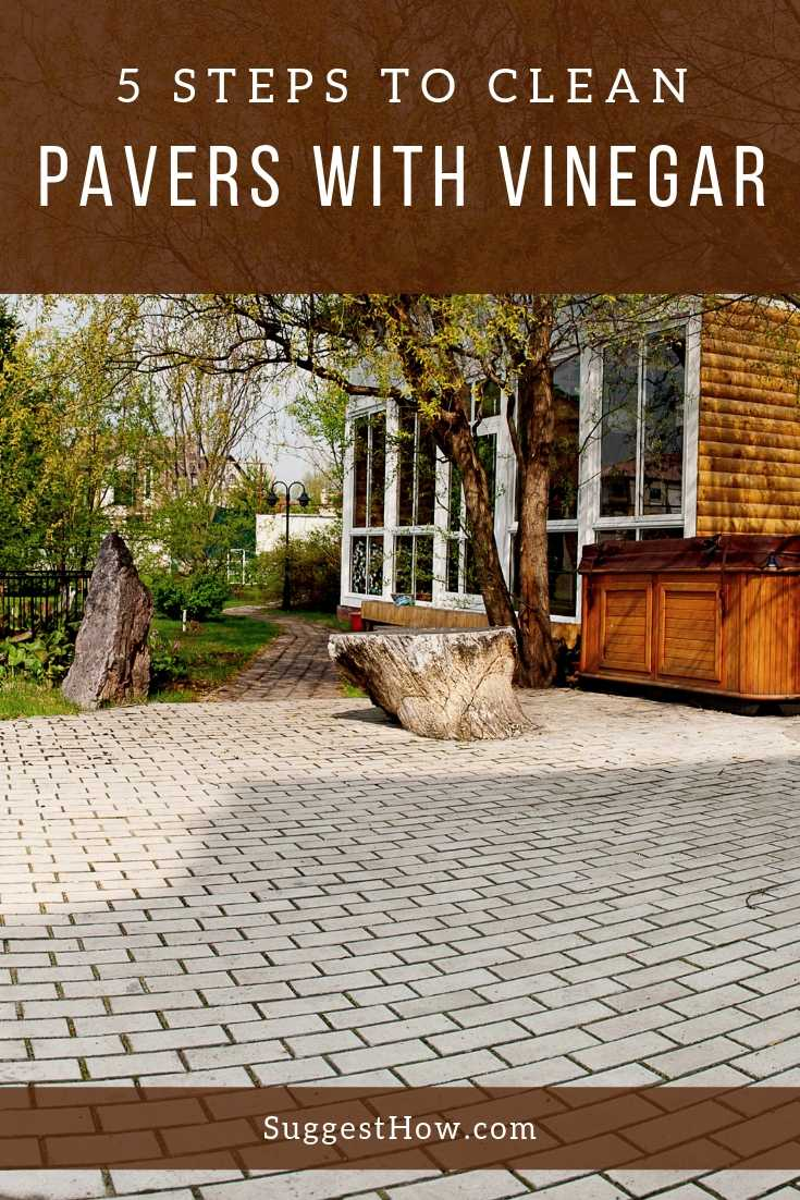 5 Steps to clean pavers with vinegar