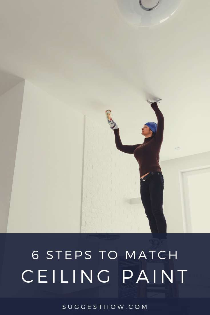 how to match ceiling paint