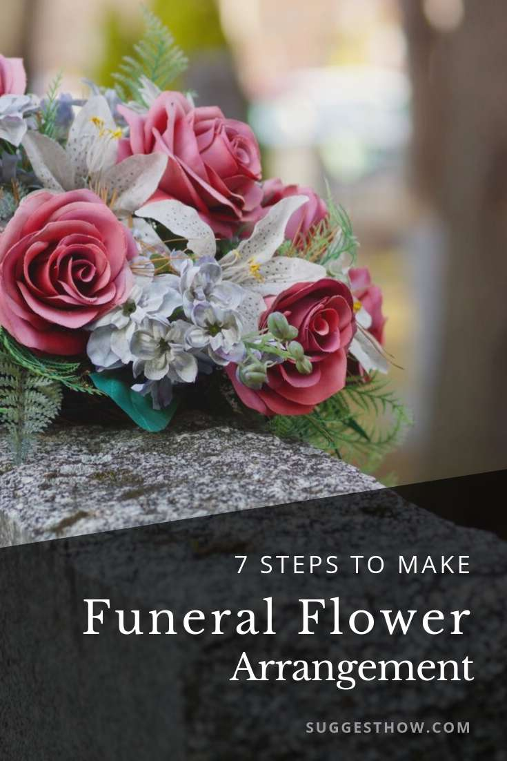 how to make funeral flower arrangement