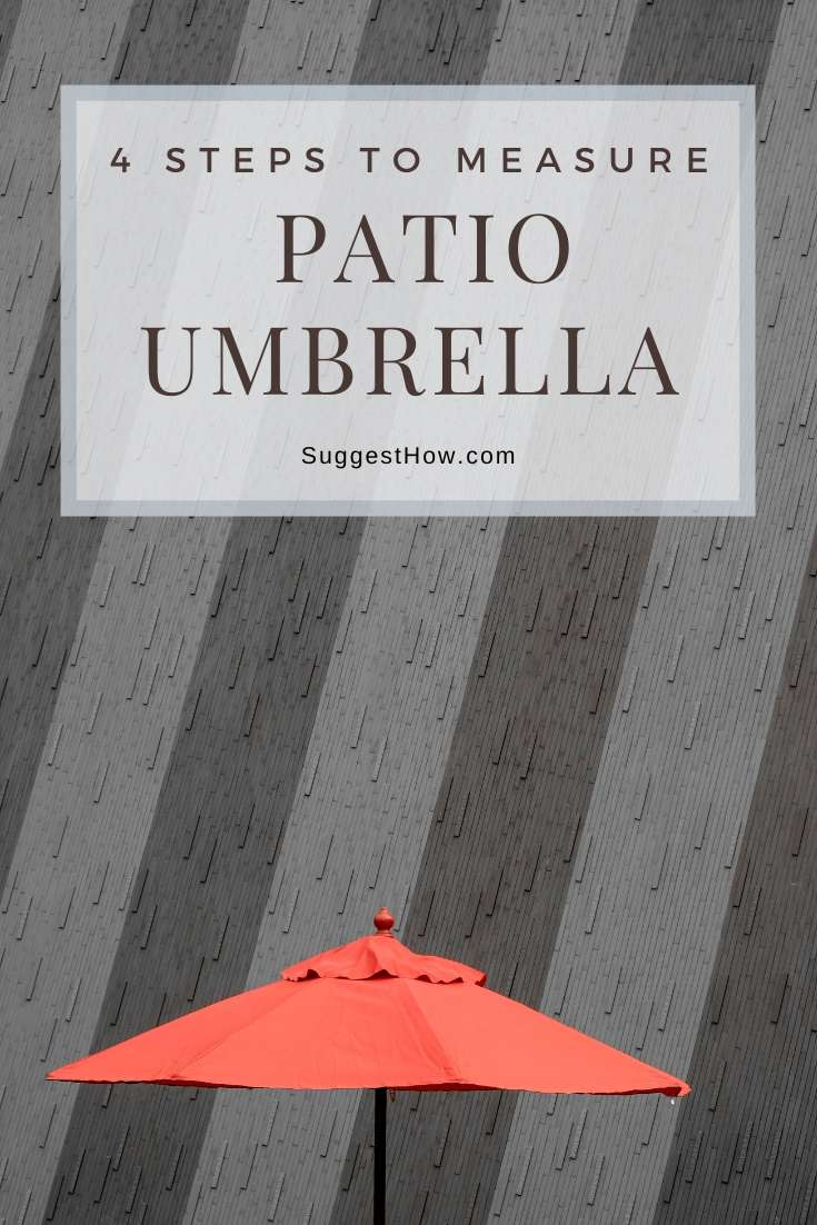 how to measure patio umbrella