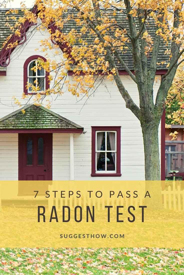 how to pass a radon test