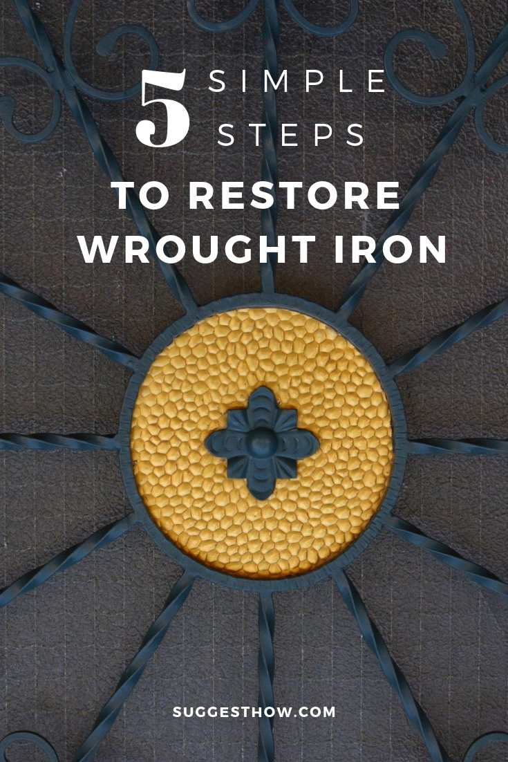 how to restore wrought iron