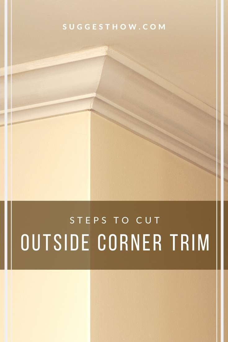 how to cut outside corner trim