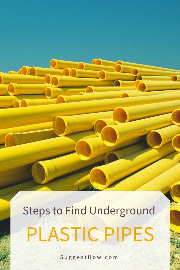 how to find underground plastic pipes