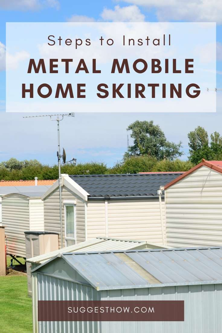 how to install metal mobile home skirting