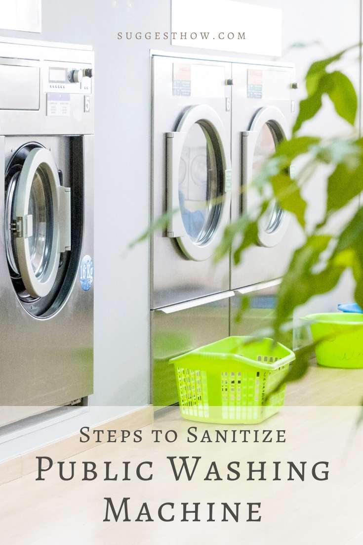 how to sanitize public washing machine