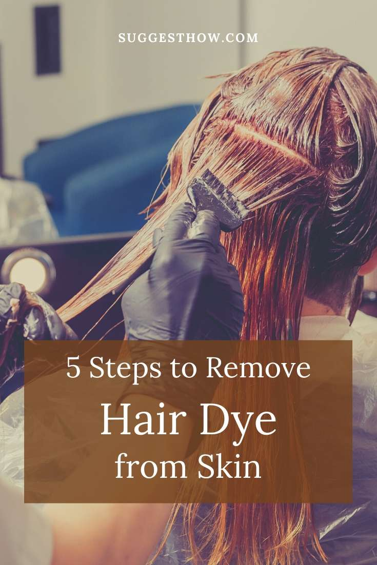 how to remove hair dye from skin