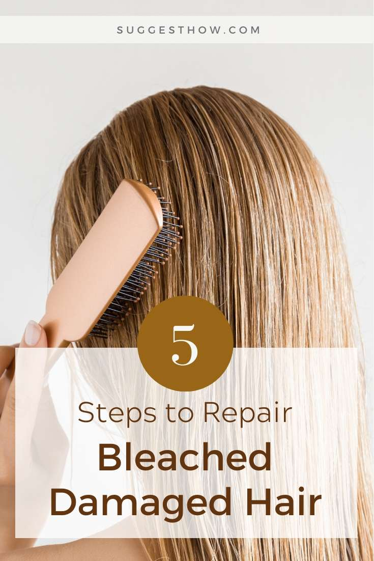 how to repair bleached damaged hair