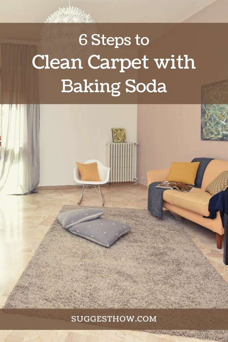 how to clean carpet with baking soda