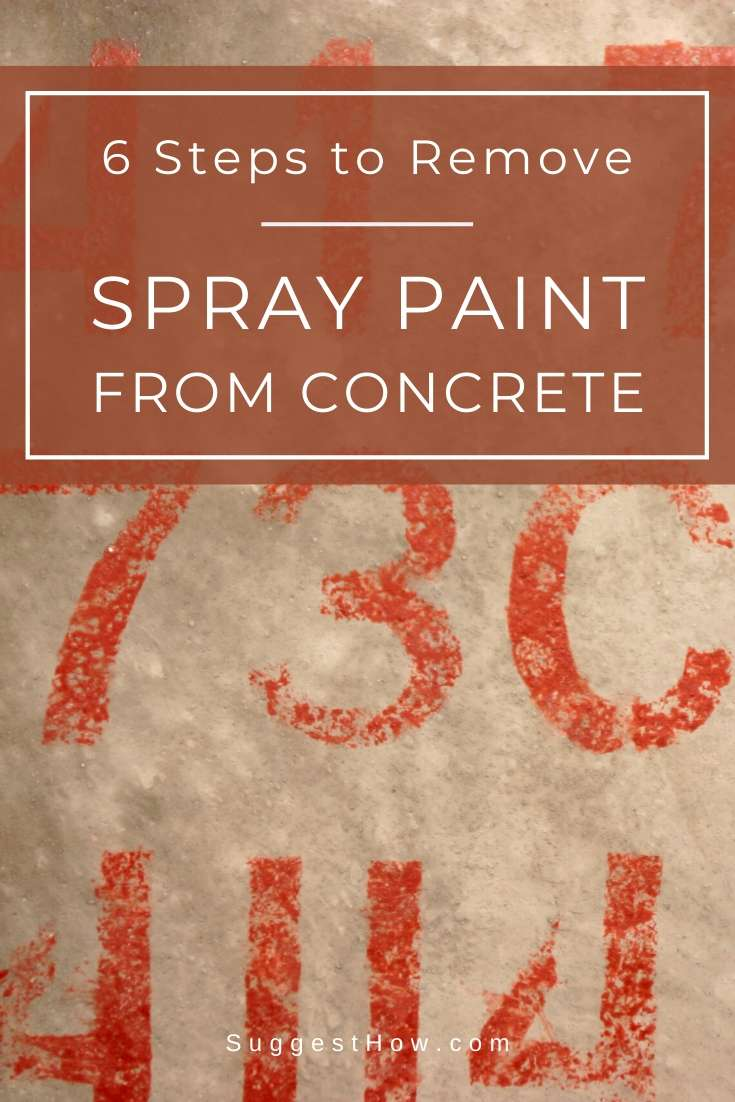 how to remove spray paint from concrete