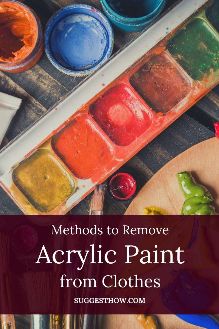 how to remove acrylic paint from clothes