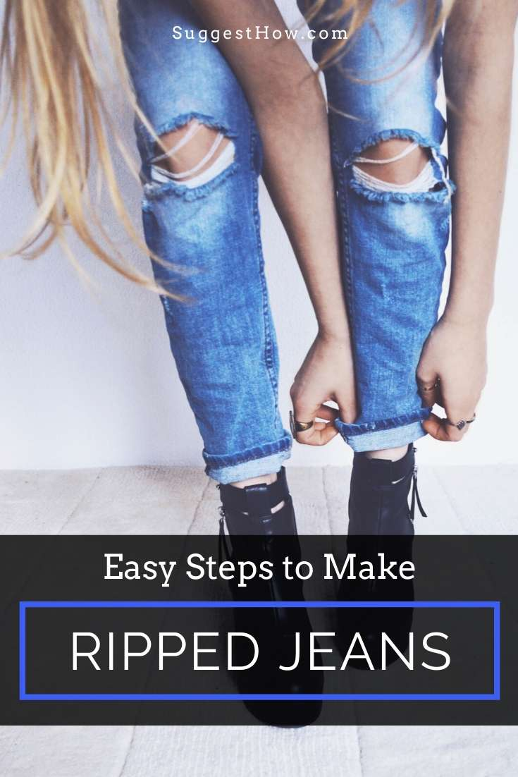how to make ripped jeans