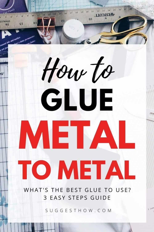 how to glue metal to metal