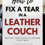 how to fix a tear in a leather couch
