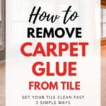 how to remove carpet glue from tile