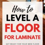 how to level a floor for laminate