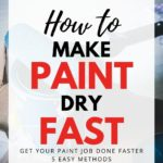 how to make paint dry fast