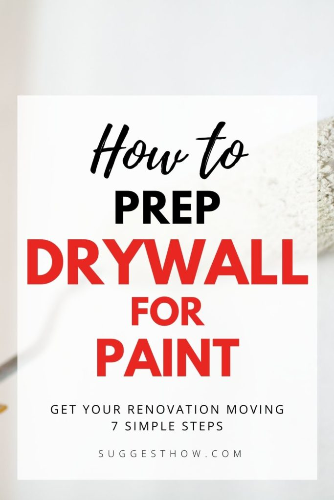 how to prep drywall for paint