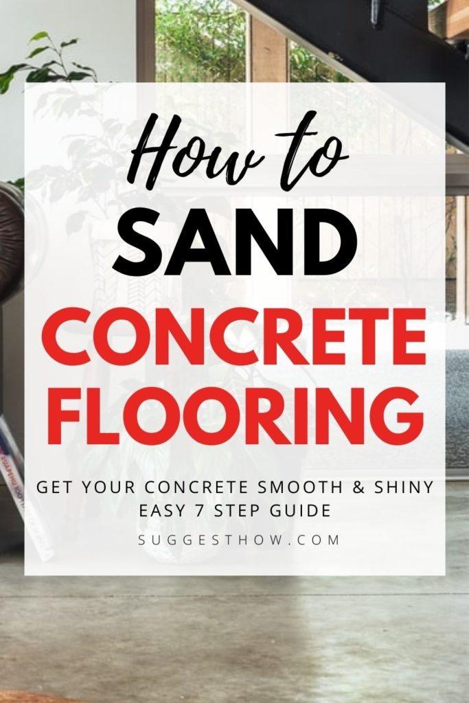 how to sand concrete flooring