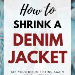 how to shrink a denim jacket