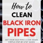 how to clean balck iron pipe